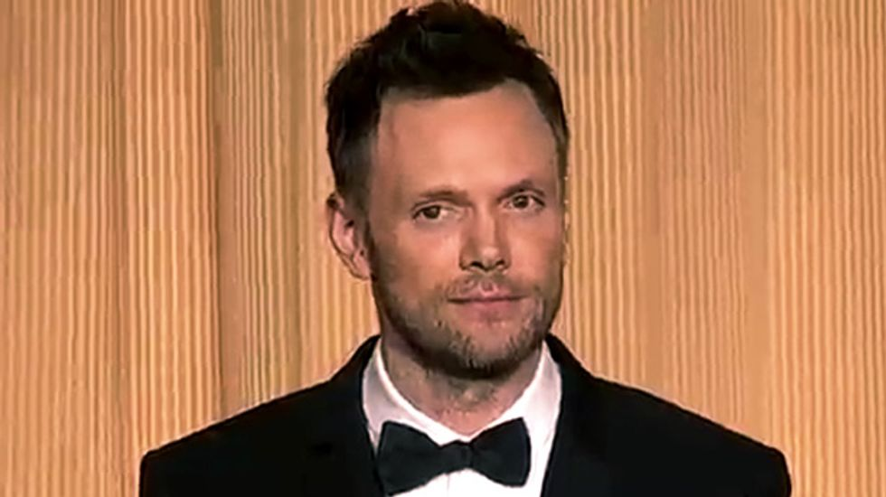Watch: Joel McHale brutalizes CNN, Fox News, and especially Chris Christie at WHCD