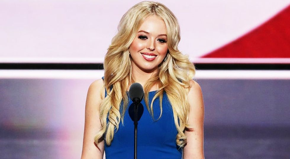 Tiffany Trump complains voters are 'mentally enslaved' by media into hating her dad
