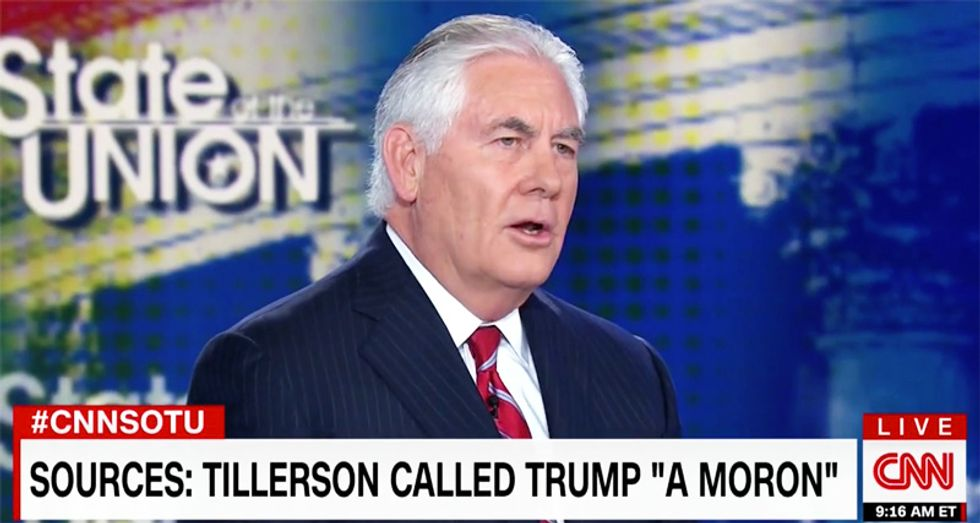 'I'm not dignifying that': Rex Tillerson snaps at Jake Tapper for asking if he called Trump a 'moron'