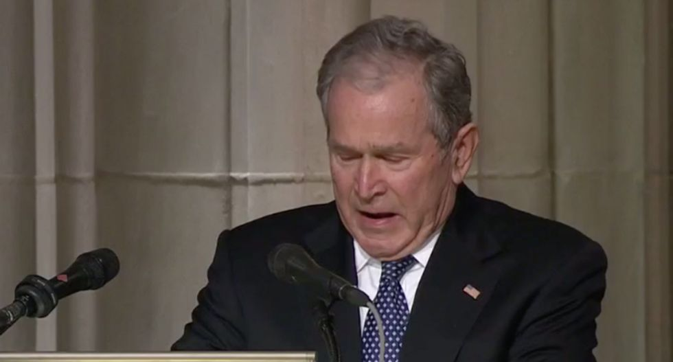 'There is a better way': George W Bush breaks his silence to speak out against 'tragic failures'