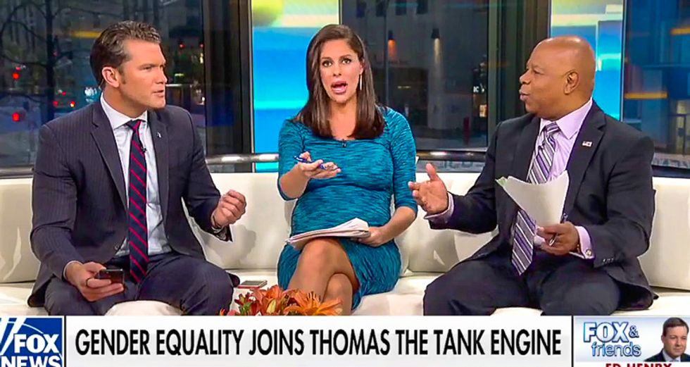 Fox host rips men over girl Thomas the Tank: 'I'm about to have a girl and I don't think it ends her childhood'