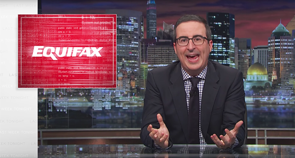WATCH: Disgusted John Oliver lambasts Equifax for making millions off of destroying Americans' credit