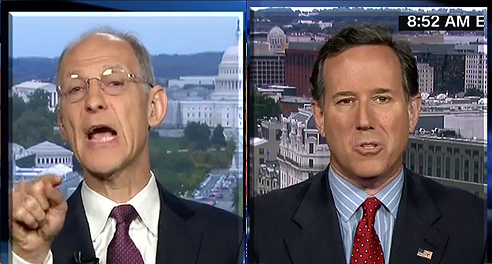 Rick Santorum goes down in flames after trying to debate former Obama official on CNN
