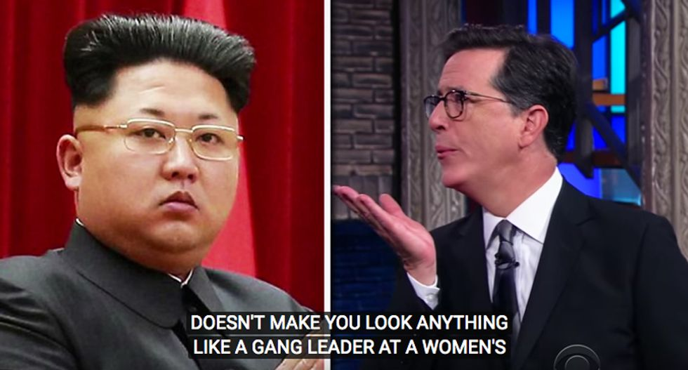 WATCH: Stephen Colbert gives 'sarcasm-fearing' Kim Jong-un a brutal lesson in how it's done