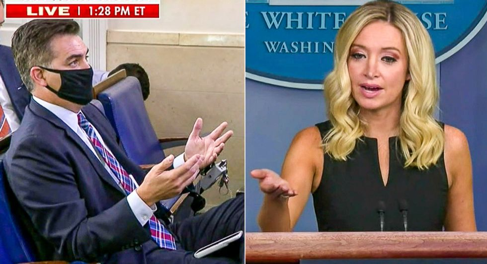 Kayleigh McEnany struggles to explain why Trump says COVID affects 'virtually nobody' after deaths surpass 200,000