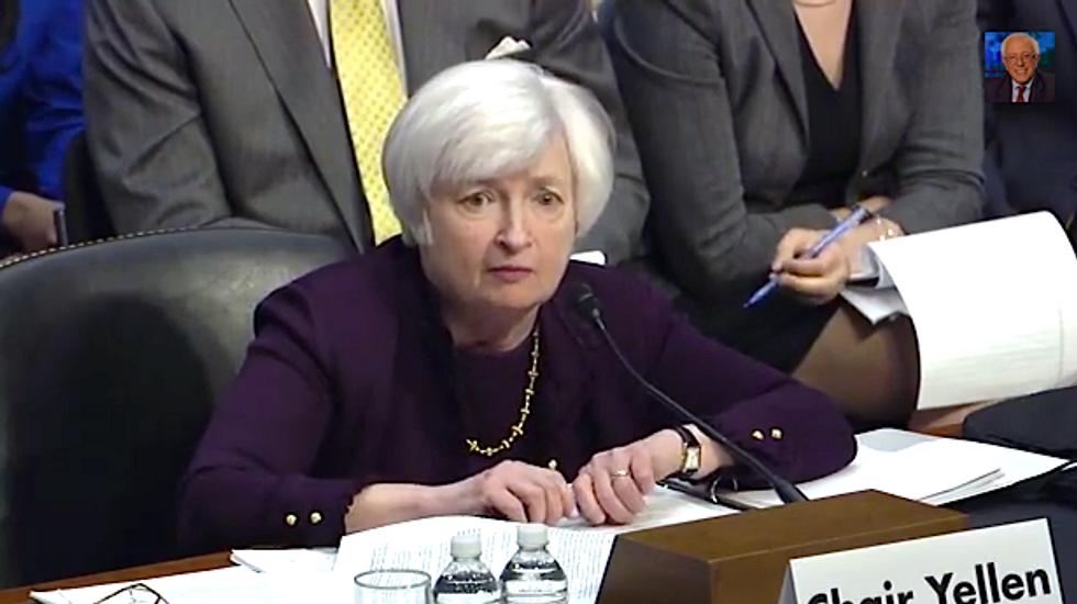 Fed Chair Janet Yellen won't tell Bernie Sanders whether U.S. is democracy or oligarchy