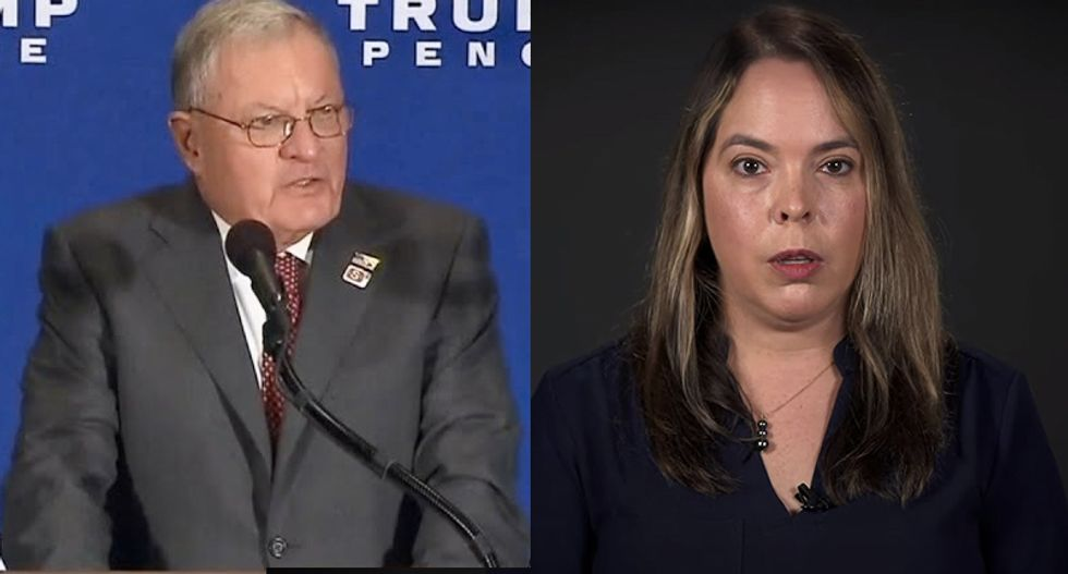 Former aide calls out Pence adviser for lying about her to protect Trump — and shows off his gift as evidence
