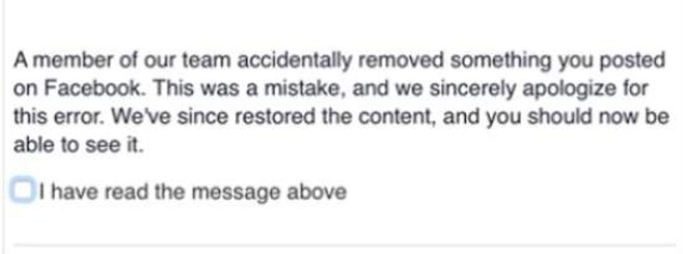 Shaun King FB message