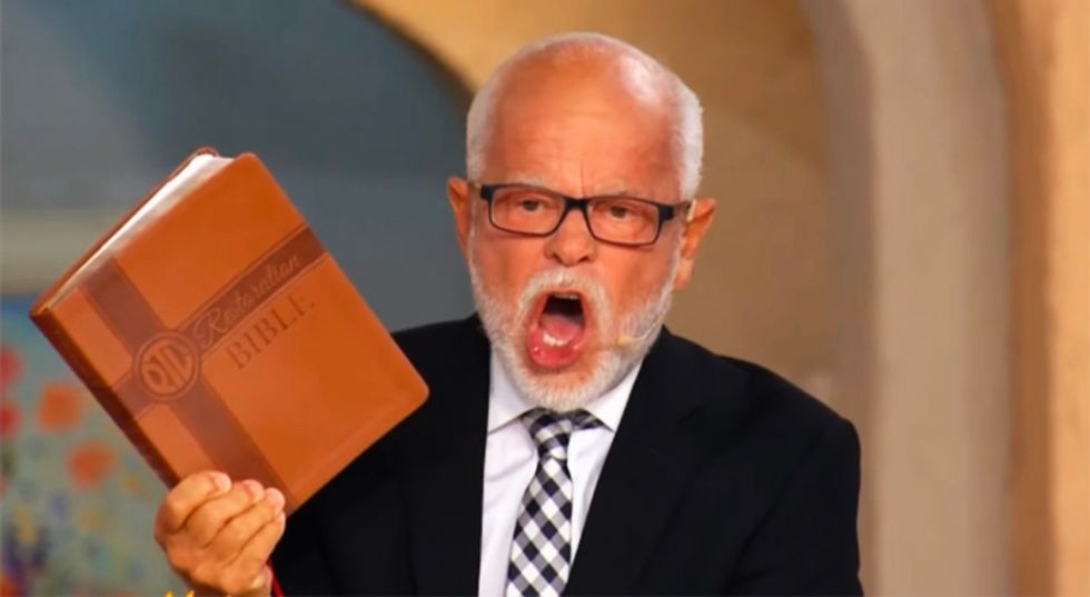 Disgraced evangelist Jim Bakker warns critics they will face God's wrath for making fun of him