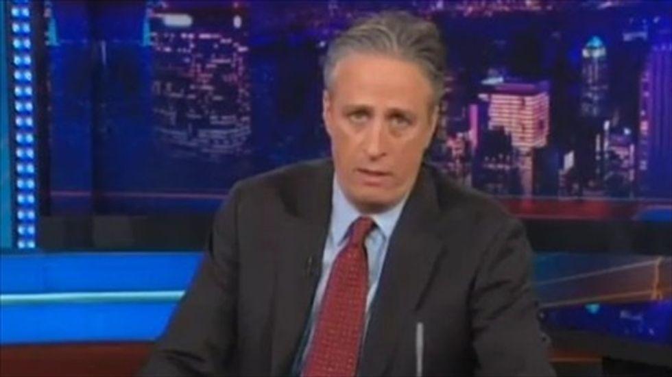 'Did it just get crazy in here?': Jon Stewart mocks media fixation on Hillary Clinton