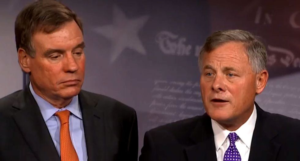 FBI director Chris Wray and deputy AG Rod Rosenstein meet with Senate intel leaders: report