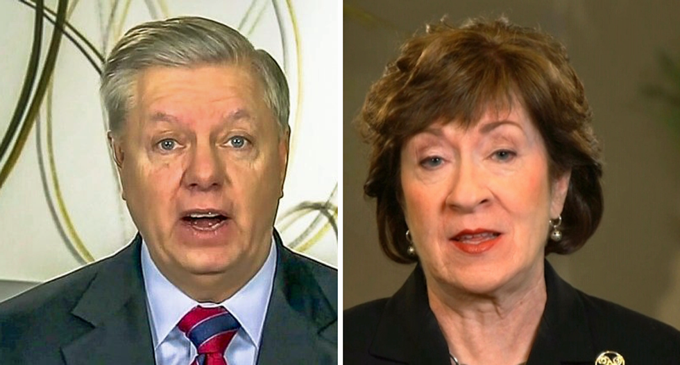 Top election forecaster shifts Senate races away from Republicans Lindsey Graham and Susan Collins