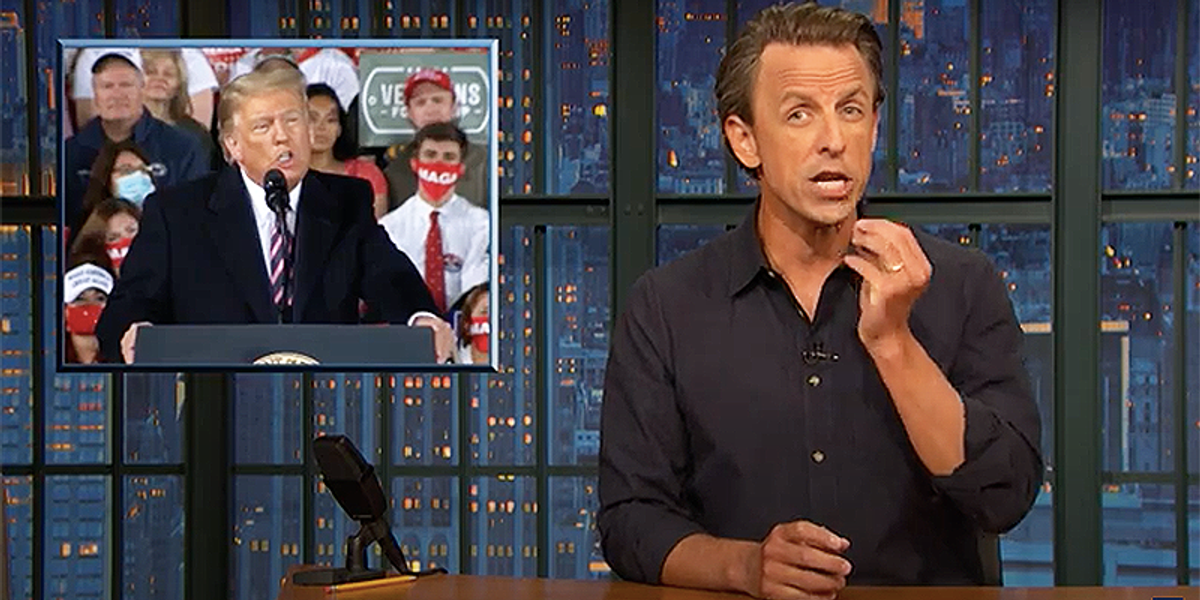 Seth Meyers celebrates Trump being relegated to rallies...