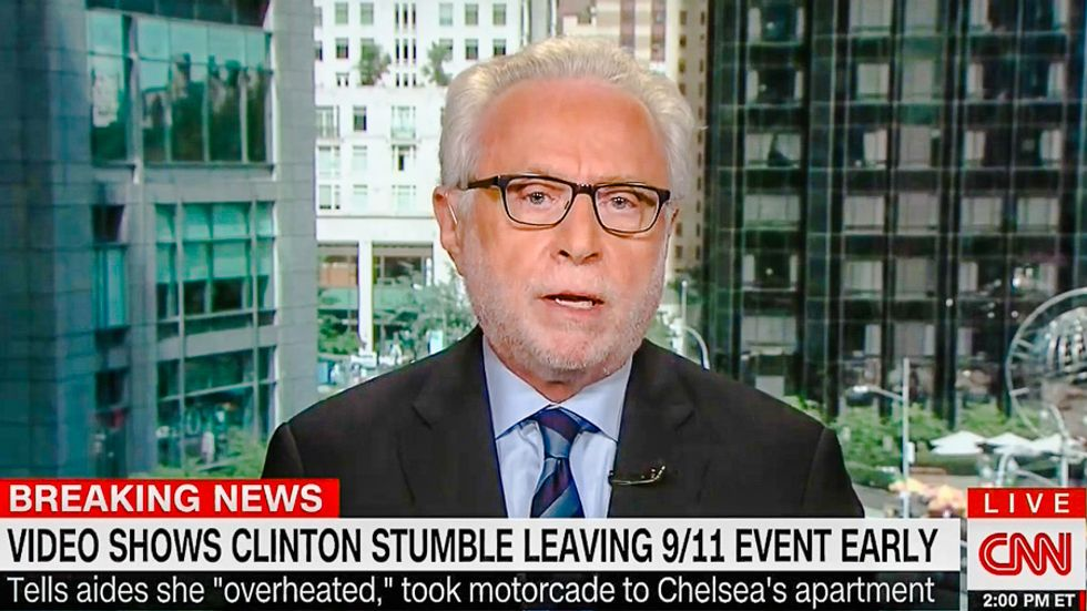 WATCH: CNN's Wolf Blitzer replays Clinton 'stumbling' clip 40 times in 10 minutes