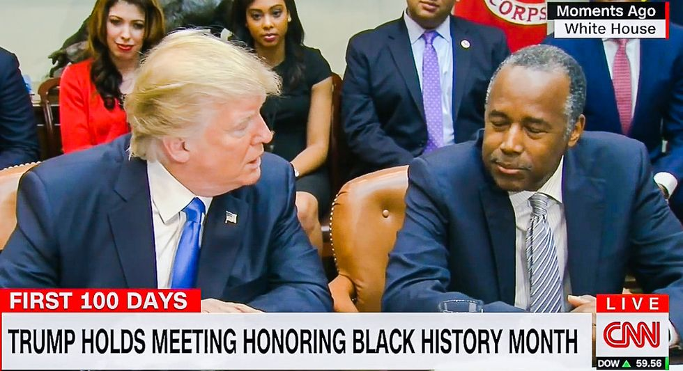 'We love you': Trump 'honors' Black History Month by having black people shower him with praise