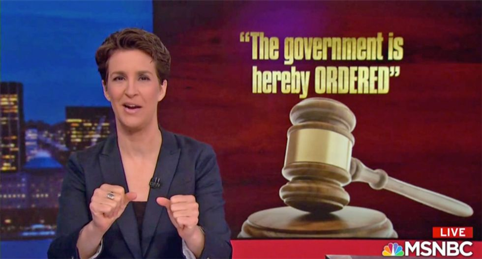 Rachel Maddow connects Trump's personal 'goon squad' to Mike Flynn obstruction call