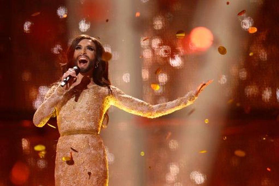 Bearded Austrian drag queen wins Eurovision