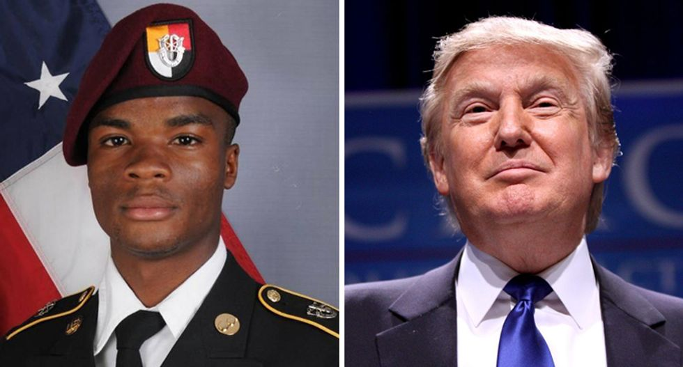 Trump finally calls widow of fallen Army soldier -- only to tell her 'he knew what he signed up for'