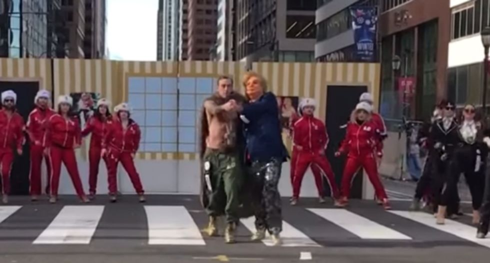 Philadelphia New Years Day parade ridicules 'pee tape'-clutching Donald Trump in hilarious dance routine