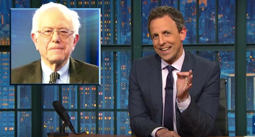 Seth Meyers slams media coverage of Democratic primaries: 'Bernie Sanders is not a zombie candidate'