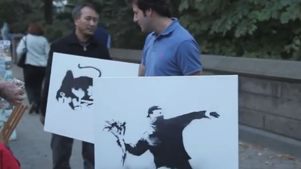 Chicago man unwittingly buys $127,752 worth of authentic Banksy works from street vendor