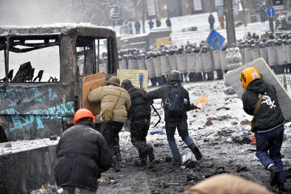 U.S. embassy revokes visas for 'several Ukrainians' linked to violent clashes