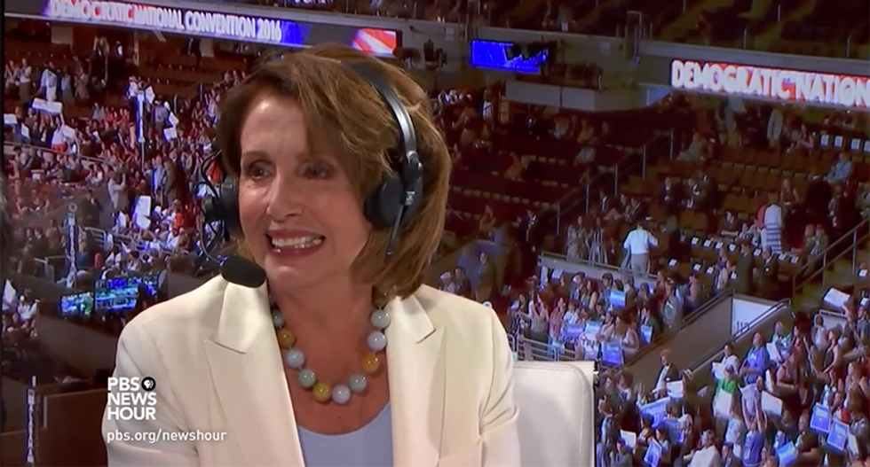 Nancy Pelosi blames 'God, guns and gays' for Clinton's struggles with white bros