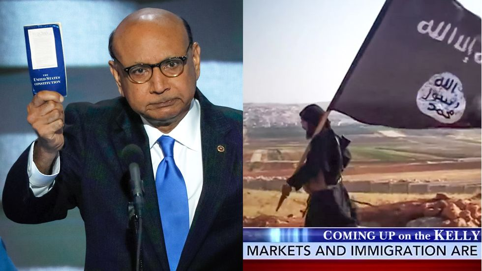 Megyn Kelly airs images of ISIS fighters while Muslim dad of slain US soldier speaks to DNC