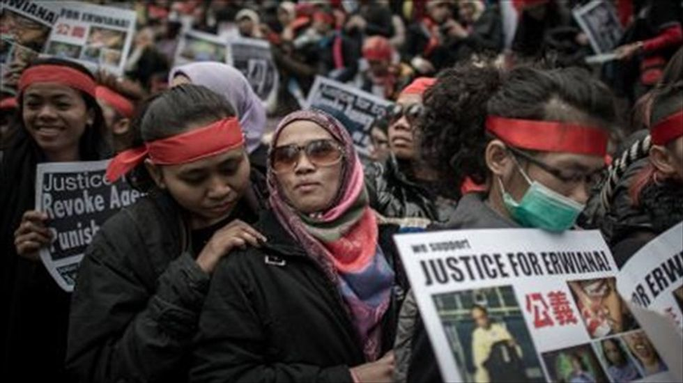Hong Kong police arrest 'tortured' Indonesian maid's employer