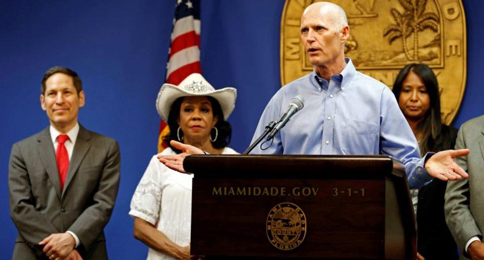 Florida governor criticizes Washington for lagging in Zika fight