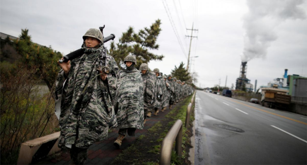 US and South Korea marines hold small-scale exercise ahead of Trump's talks with North Korea