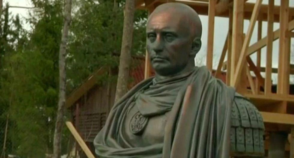 'A conqueror and statesman': Russia unveils bust of Vladimir Putin as a Roman emperor