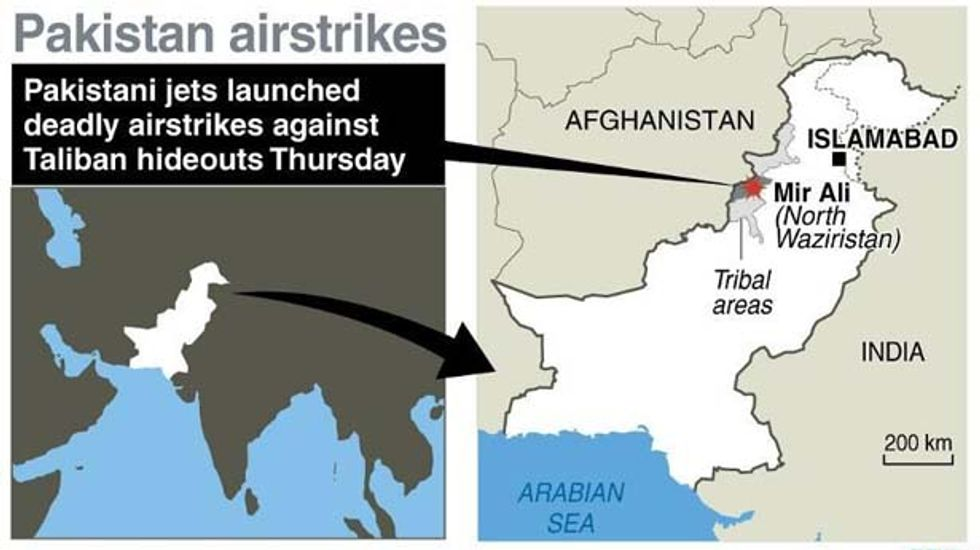 Airstrikes upon Taliban hideouts in Pakistan kill 15