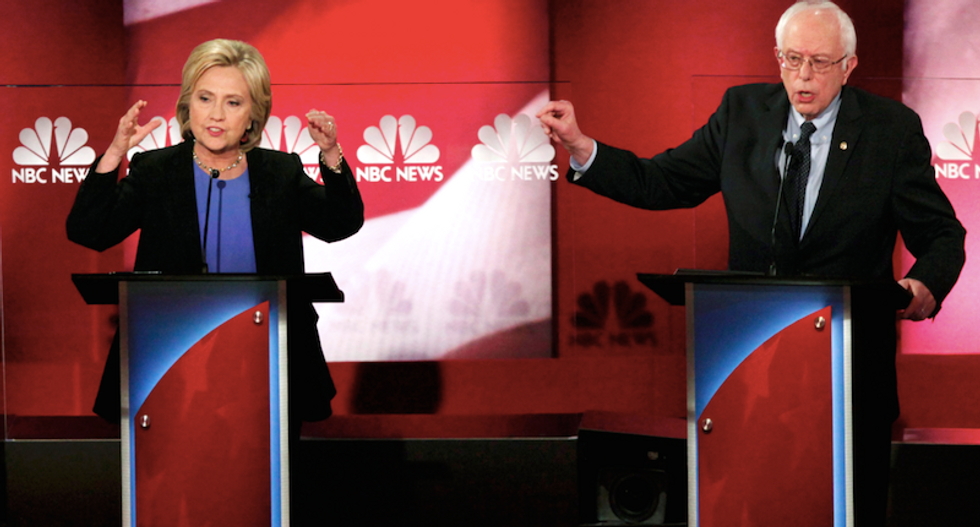 WATCH LIVE: MSNBC airs first one-on-one Democratic debate between Clinton and Sanders