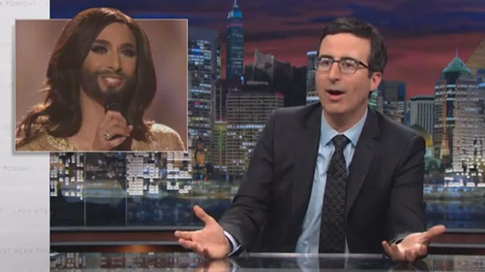John Oliver: Ukraine and Russia went to war this weekend, and a bearded diva won