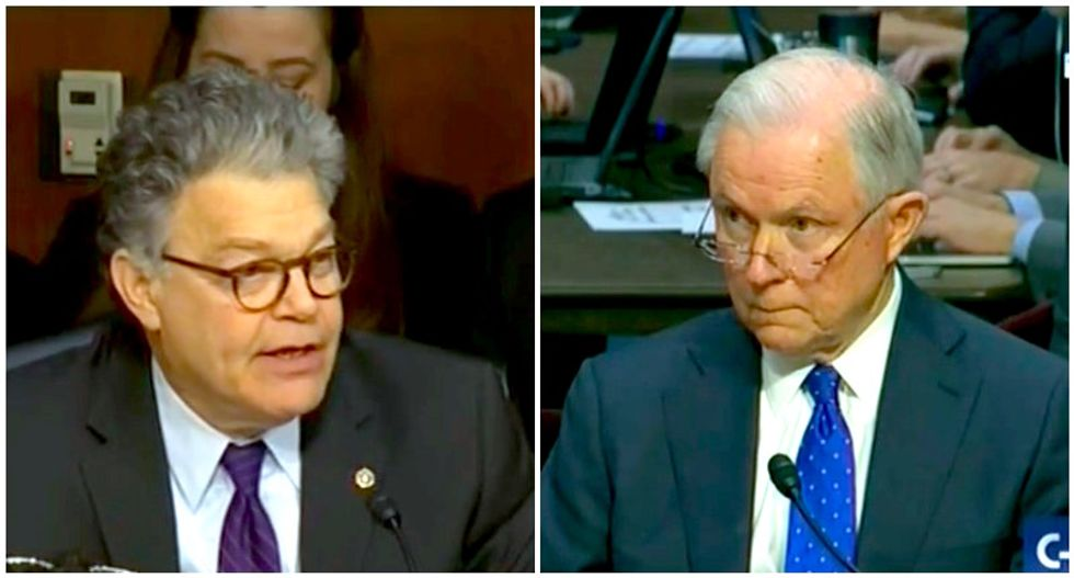 'Give me a break': Jeff Sessions wilts under grilling by Al Franken on Russia contacts