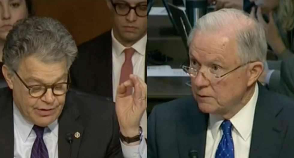 Franken grills Sessions over who he considers a Trump surrogate after AG denies Russian contact stories