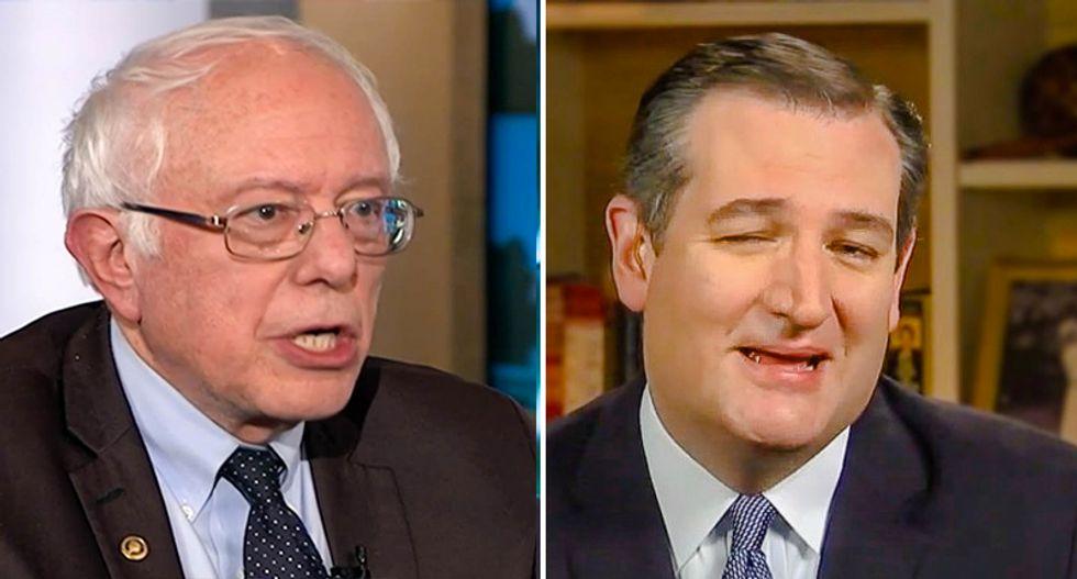 WATCH: Bernie Sanders goes up against Ted Cruz in 90-minute debate