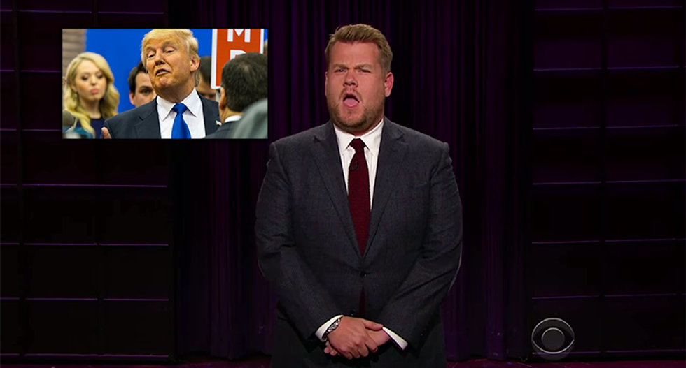 James Corden turns tables on Trump: He called half of Clinton's supporters 'deportable'