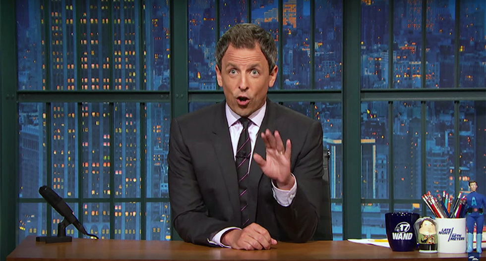 Seth Meyers calls out press in Clinton-Trump 'tit-for-tat': Media will always ignore his tits