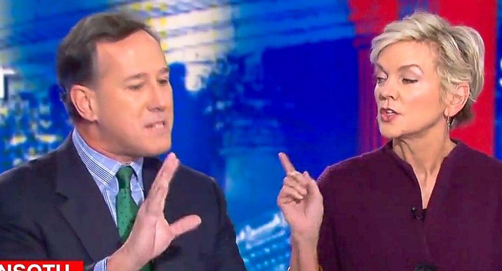 Jennifer Granholm catches Rick Santorum shamelessly lying ahead of SOTU: 'It's not hard for you personally'