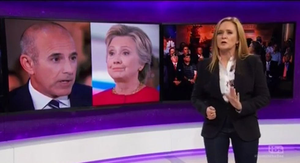 Sam Bee nails media for election coverage: Why can't you 'tell us what's true and what's bullsh*t?'