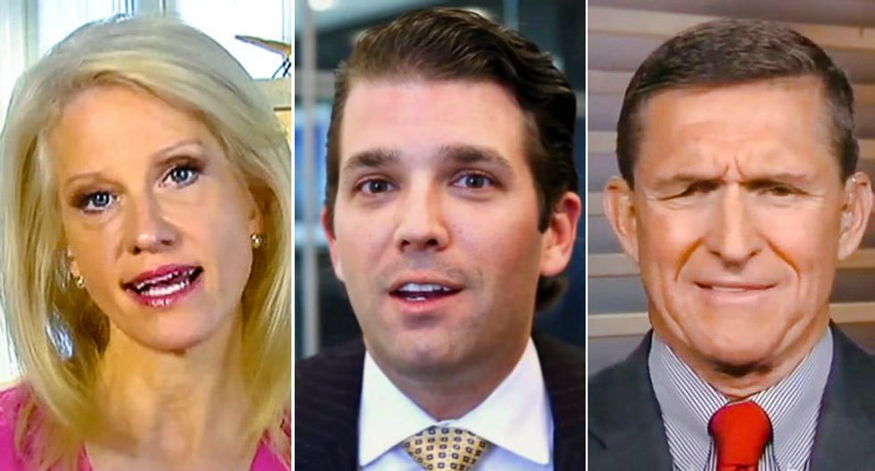 Kellyanne Conway, Don Jr. and Mike Flynn shared tweets posted by Russian trolls right before election: report