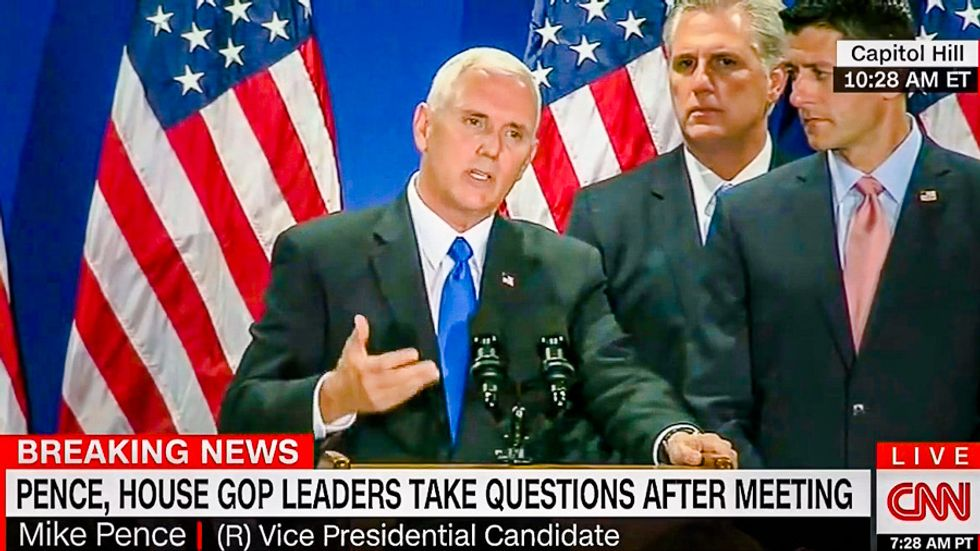 Mike Pence says denouncing David Duke as 'deplorable' is 'name calling' -- but it's just the truth