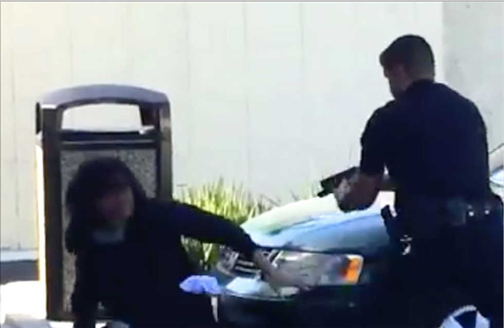 California cop caught on video shooting a man seven times and killing him after scuffle [GRAPHIC]