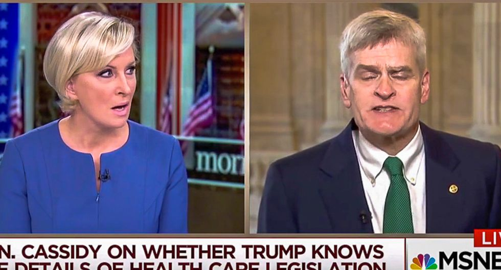 Mika Brzezinski perfectly stomps GOPer who butchers her name and calls Trump lies 'in the eye of the beholder'