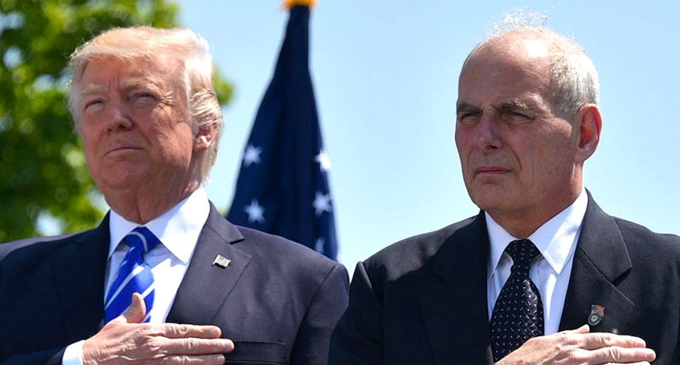 John Kelly 'blew up' at Trump in the Oval Office, packed up his belongings and threatened to quit: report