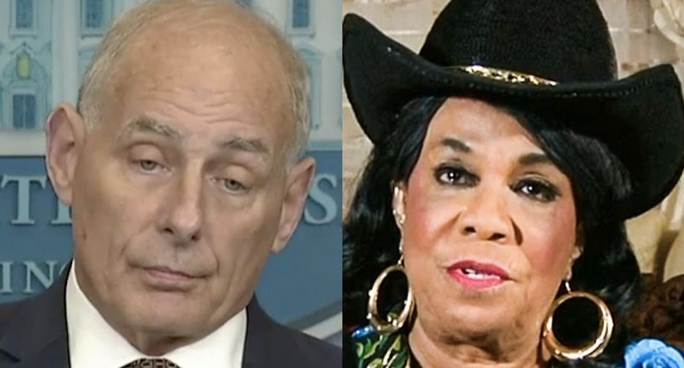 Florida's Frederica Wilson destroys John Kelly on his way out – and suggests he beg America for forgiveness