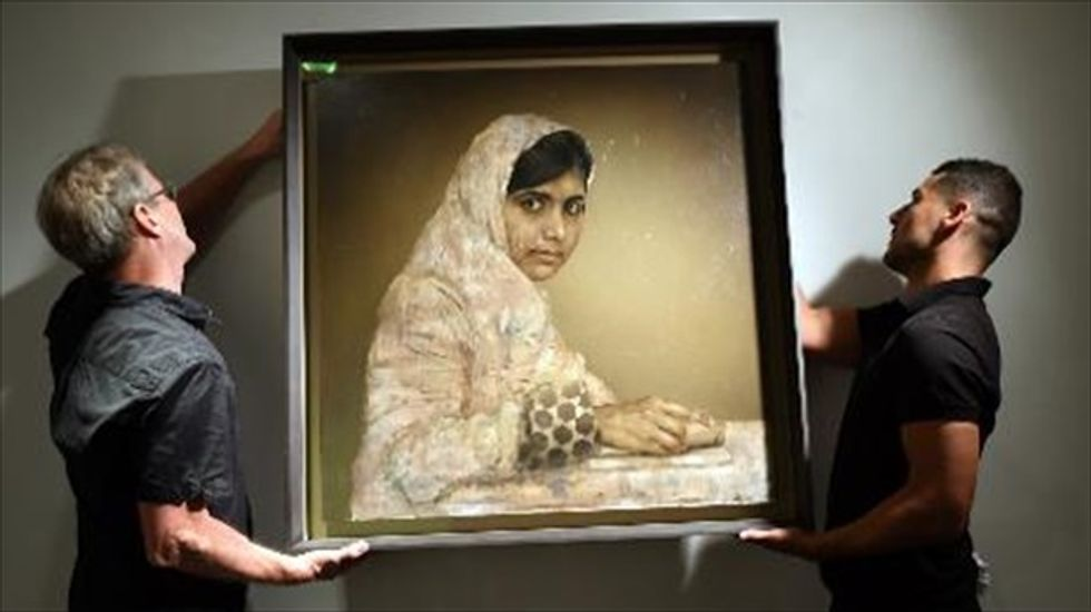 Portrait of activist Malala Yousafzai sells for $102,500 in benefit auction for Nigerian girls