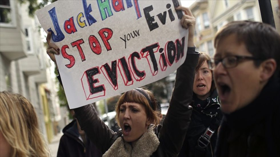 San Francisco protesters target 'Dirty Dozen' tech landlords over rise in tenant evictions